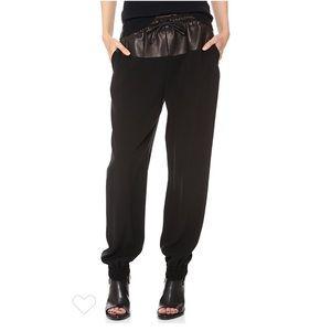 Rag & Bone Owen Lambskin Leather Sweatpants Pants